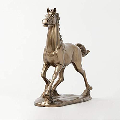 NFWER Cold Cast Bronze Farbe sprinten Pferde Figur Statue Decor