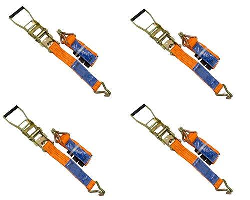 UNITRAILER Set von 4 Spanngurte Zurrgurte 3M/50mm/4T für Pkw-Anhänger Bundle