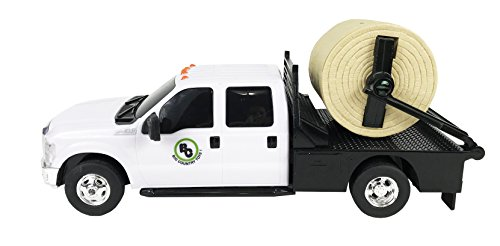 Big Country Toys Ford Flatbed - 1:20 Scale - Farm Toys - Toy Flatbed Farm Truck - Toy Truck with Hay Squeeze - Durable Plastic