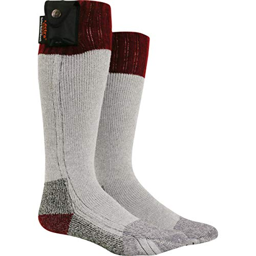 Nordic Gear Unisex Lectra Sox-Electric Battery Heated Socks - Medium - Maroon