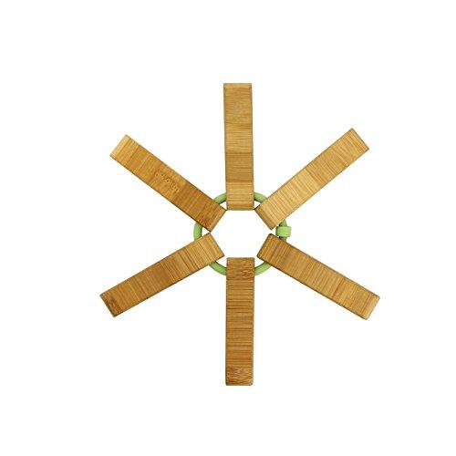 TheKitchenette 5040554 Dessous de Plat, Bambou, Bois, 9,5 x 2,5 x 18 cm
