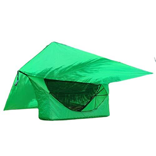 73HA73 Carpa del Árbol del Cielo Refugio para Acampar al Aire Libre Mosquitera Hamaca Juego de Carpa con Dosel Pérgola al Aire Libre Suspensión a Prueba de Lluvia Carpa Columpio,Green