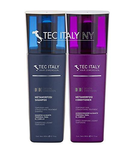 Tec Italy Metamorfosi Temporary Hair Straightening Shampoo and Conditioner set 10.1 oz