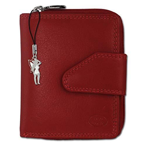 DrachenLeder Old River Damen Brieftasche Portemonnaie Geldbörse rot Leder 9x2,5x10cm OPD104R ein Angebot von IMPPAC