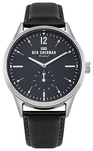 Ben Sherman Herren Datum klassisch Quarz Uhr mit Leder Armband WB015UB