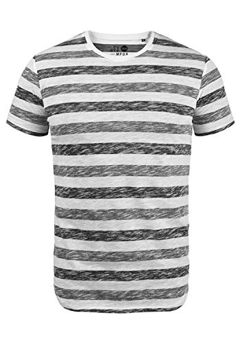 !Solid TET Herren T-Shirt Kurzarm Shirt Mit Streifen Und Rundhalsausschnitt, Größe:M, Farbe:Dark Grey (2890)