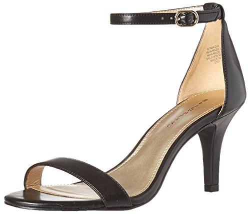 Bandolino Footwear Women's Madia Heeled Sandal, Black, 6.5