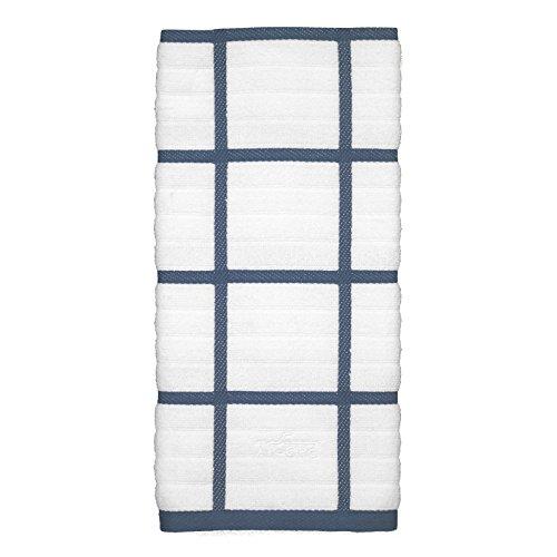All-Clad Textiles 100-Percent Cotton Checked Kitchen Towel, Cornflower
