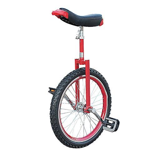 Einrad Kinder/Erwachsene/Jugendliche Im Freien Einrad, 24/20/18/16 Zoll Rad Balance Cycling, Mit Verdickter Leichtmetallfelge, 18/16/15/14/9 Jahre Altes Kind (Color : Red, Size : 18inch)