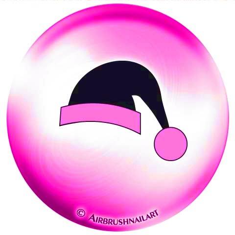 1 vel Airbrush-sjablonen/lak-sjablonen, zelfklevend: #85-876 Kerstmis Kerstman SANTA-muts