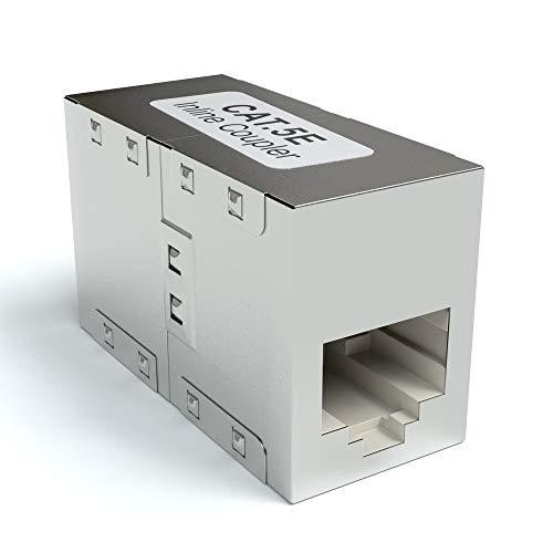 JAMEGA – RJ45 Ethernet Lan Kabel Kupplung CAT6 DSL Netzwerkkabel Verbinder Adapter Modular Netzwerkkoppler für Patchkabel, Ethernetkabel und Lankabel