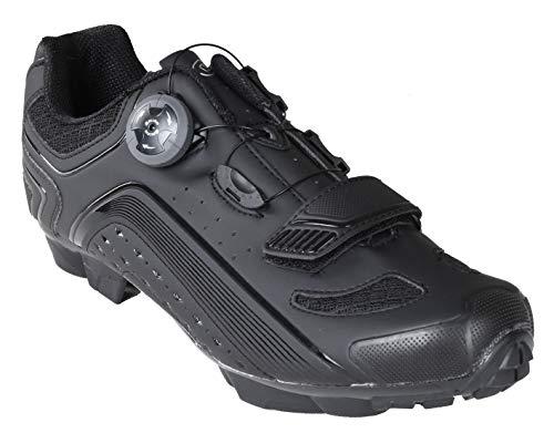 Gavin Pro MTB Shoe, Quick Lace - SPD Cleat Compatible Mountain Bike Shoe Black