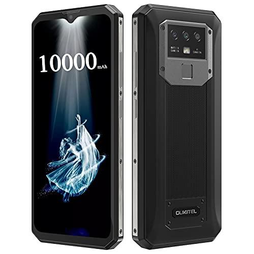 Móvil Libre OUKITEL K15 Plus 10000mAh Batería 6.52 Pulgadas HD+ Teléfono Móvil Android 10 Triple Cámara 18W Carga Rápida + Carga Inversa Dual SIM 4G Smartphone Libre Reconocimiento Facial NFC Negro