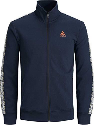 JACK & JONES Herren Sweatjacke Jorlenny Sweat High Neck Zip Pullover Sweatshirt (L (52), Blau (Navy Blazer))