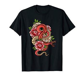 Japanese Snake Tattoo Kanji Life Yakuza Hipster T-Shirt