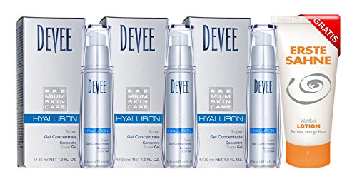 Devee Hyaluron Super Gel Concentrate 3 x 30 ml Sparpack + 1 X Gratis Bodylotion 100 ml