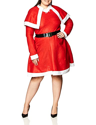 Forum Novelties Women's Miss Santa Costume, Red/White, Standard