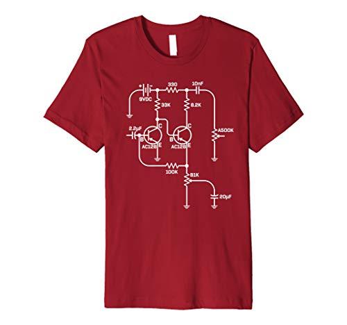 Fuzz Pedal Schematic Circuit Handwired Musician Gift T-Shirt Premium T-Shirt