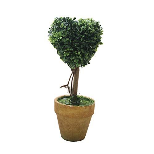 Homeofying Plante Artificielle en Pot avec cœur en Forme d'étoile Vert, a, Vert