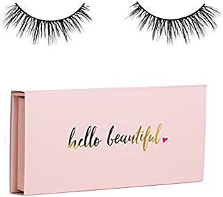 Icona Lashes Premium Quality False Eyelashes   Head Over Heels   Wispy and Flared   Natural Look and Feel   Reusable   100% Handmade & Cruelty-Free