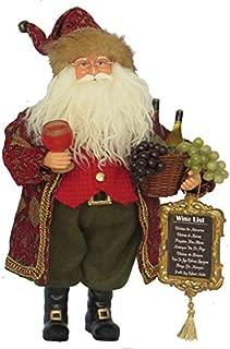 Santa's Workshop Wine Master Santa Figurine, 15