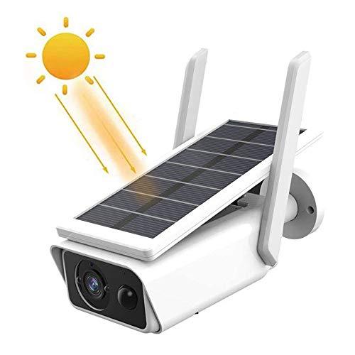 Cámara de Seguridad con energía Solar, Cámara de Seguridad con energía Solar 1080P, vigilancia IP inalámbrica WiFi con detección de Movimiento PIR, cámara de Control Remoto al Aire Libre Impermeable