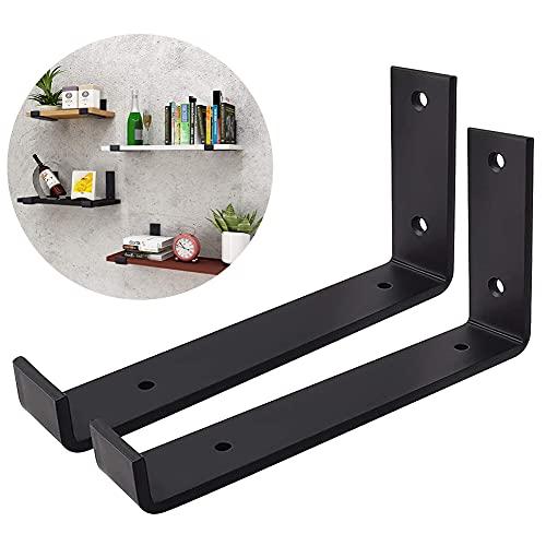 GEEDAIR - Soporte para estante (2 unidades), color negro