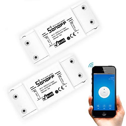 Interruptor de luz inteligente WiFi, 2 unidades, interruptor...