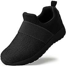 QIJGS ToddlerLittle Kid Boys Girls Shoes Running Sneakers Athletic Tennis Walking Shoes Black, 9.5 Toddler