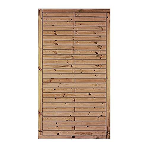 MEIN GARTEN VERSAND Klassischer Lamellenzaun/günstiger Sichtschutzzaun mit den Maßen 100 x 180 cm (Breite x Höhe) aus druckimprägniertem Kiefer/Fichte Holz Hamburg