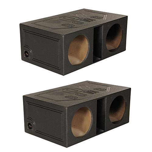 "Q-Power QBOMB 12"" Dual Vented Ported Car Subwoofer Sub Box Enclosure (2 Pack)"
