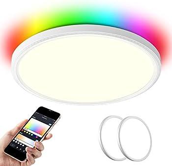 2-Pack Modern Store 14 Inch Smart LED Flush Mount Ceiling Light
