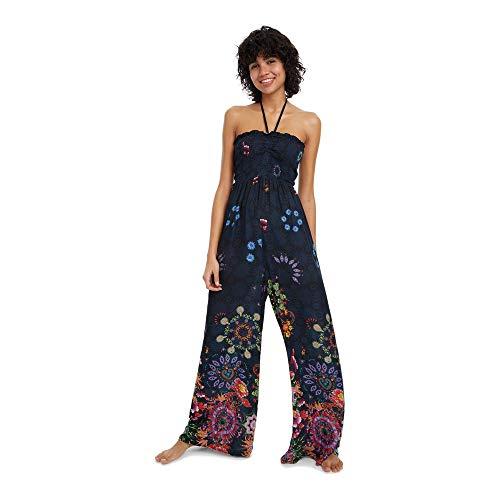 Desigual Dress Swimwear Iye Woman Blue Mono Largo para Mujer