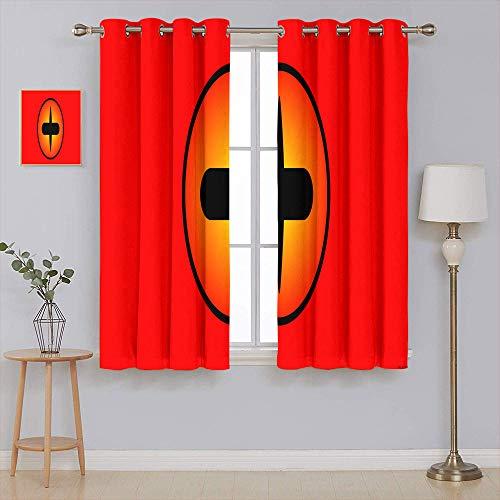 Anime Naruto - Cortinas opacas con aislamiento térmico de oscurecimiento, cortinas opacas de alta calidad para sala de estar, 100 x 150 cm