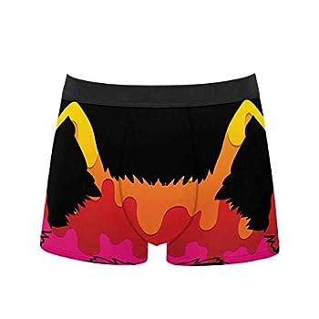 InterestPrint Men s Comfort Breathable Polyester Boxer Briefs Underwear Wolf Face Pattern 5XL