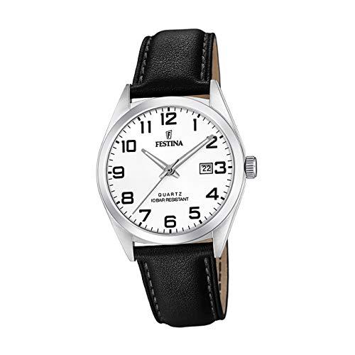 Festina Herren Analog Quarz Uhr mit Leder Armband F20446/1