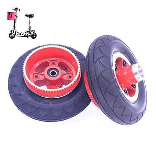 DLILI Neumáticos para Scooter eléctrico, tracción Total con neumático sólido de 8 Pulgadas, tracción Total con neumático 200x50, Adecuado para Correa de distribución de Mini Scooter, Rueda Trasera