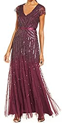 in budget affordable Adrianna Papell Cassis 10 V-neck short dress