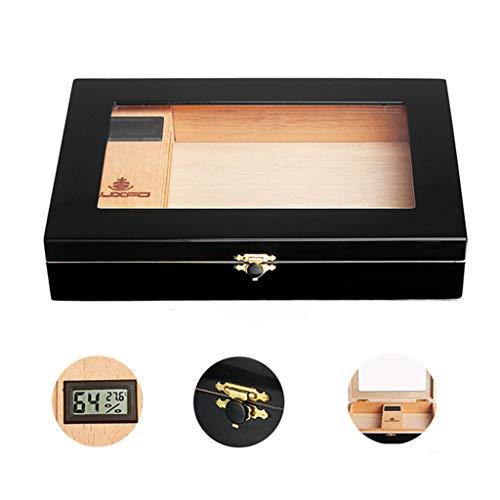 MMCC Porta Sigari Igrometro Digitale Umidificatore Legno di Cedro Design Elegante Alta qualità Ottimo Portatile Portasigari