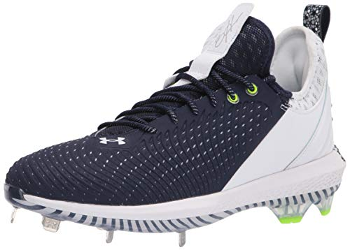 Under Armour Men's Harper 5 Low ST Baseball Shoe, Midnight Navy (401)/White, 11