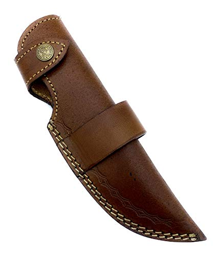 "9"" long custom handmade leather sheath for fixed blade knife. Fits up to 5""—5.5"" cutting blade. Vertical and horizontal leather sheath"