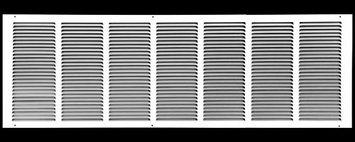 36'w X 18'h Steel Return Air Grilles - Sidewall and Ceiling - HVAC Duct Cover - White [Outer Dimensions: 37.75'w X 19.75'h]