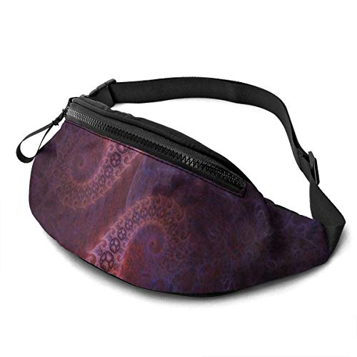 NHCY BCCYZ Fraktale Antenne Niedliche verstellbare Fanny Running Waist Pack Bag