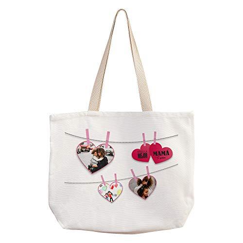 LolaPix Bolso con Fotos Personalizado. Regalos Dia de la Madre Personalizados. Varios diseños. Notas para Mamá