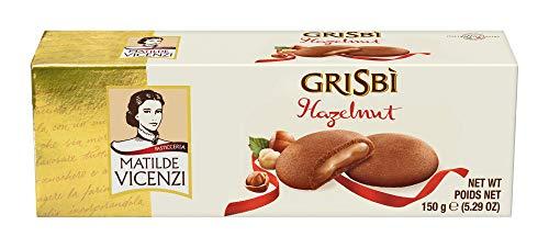 Matilde Vicenzi Gribis Hazelnut - Italienisches Mürbeteiggebäckmit samtiger Cremefüllung, 14er Pack (14 x 150 g)