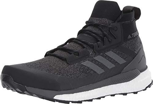 adidas Men's Terrex Free Hiker Hiking Boot, Black/Grey/Orange, 10