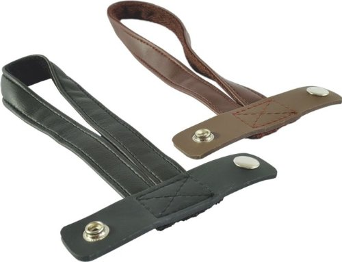 Stockschlaufe aus Kunstleder, schwarz für Faltstock Gehstock - Spazierstock Krankenstock