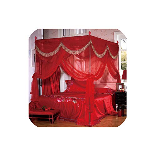 Best Deals! sunshine-xj Luxury Hight QC 4 Post Bed Curtain Canopy Mosquito Nets Full Queen King Size...