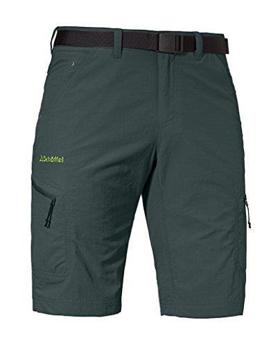 Schöffel Shorts Silvaplana2 Herren Hose, vielseitige Wanderhose mit separatem Gürtel, komfortable Outdoor Hose mit praktischen Taschen, grün,58