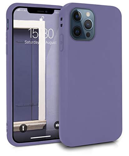 MyGadget Silikon Hülle für Apple iPhone 12 Pro Max - robuste Schutzhülle TPU Hülle Slim Silikonhülle Back Cover Ultra Kratzfest Handyhülle matt Lila (dunkel)